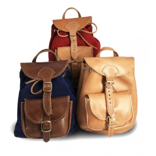 Leather Backpack Kouros 615