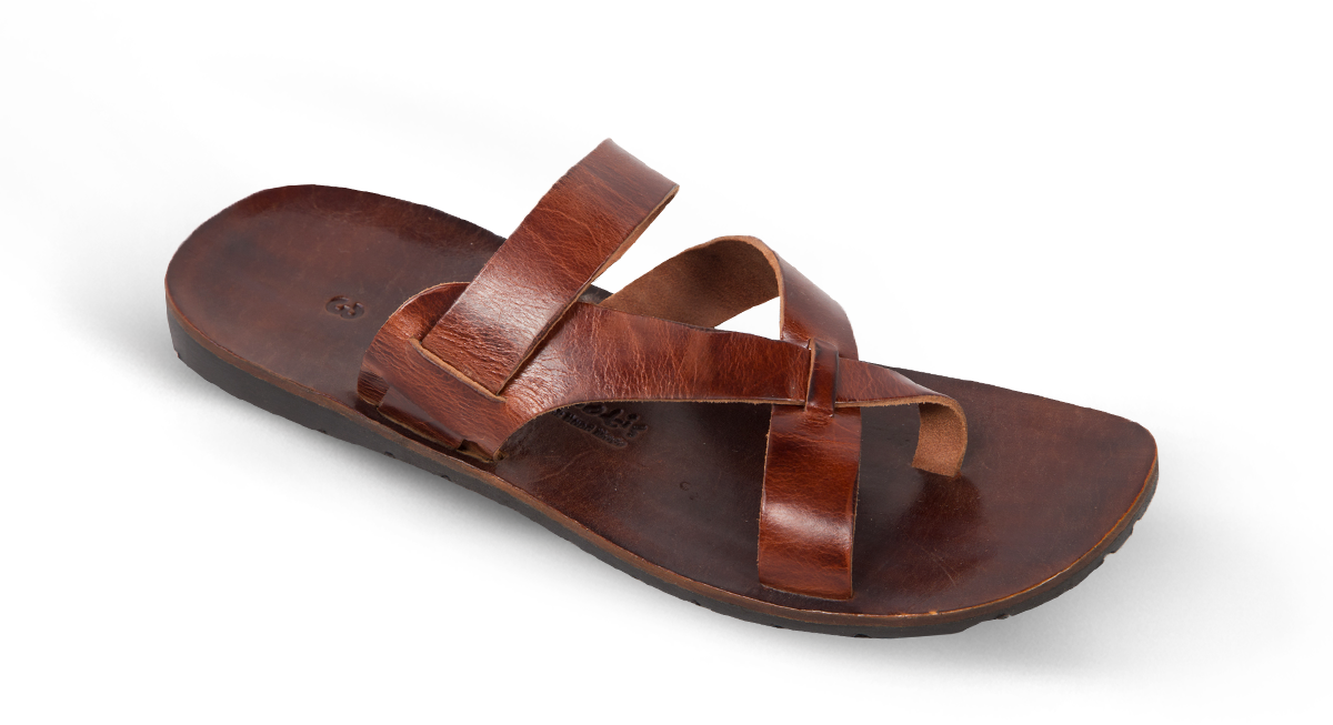 5eaa6a2484f Men Leather Sandals Kouros 9 62 - SANDALS - MAN