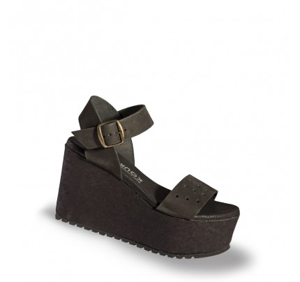 Women Leather Wedges 2/18