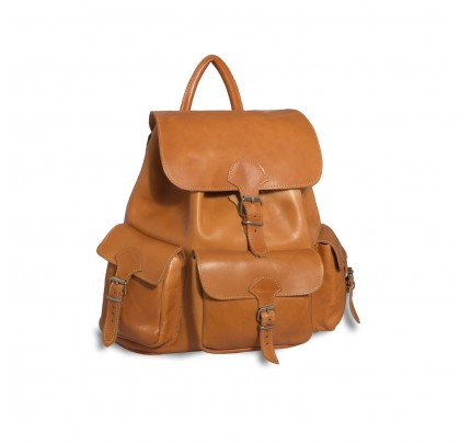 Leather Backpack Kouros 629