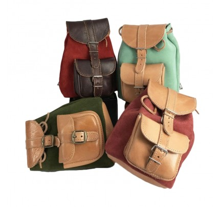 Leather Backpack Kouros 642