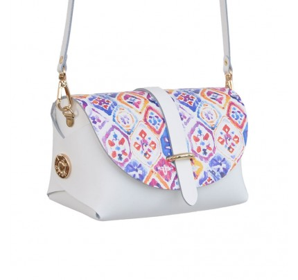 Leather Bag cod.99367 «My Passport - Strip on Top» Tile Print