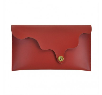 Leather Clutch cod.99186 «Wave On Top Leather Clutch»