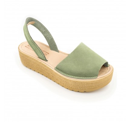 Women Leather Flatforms Klimatsakis Rafta