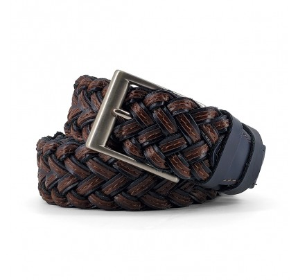 Knitted Leather Belt Kouros, Width 3,50cm