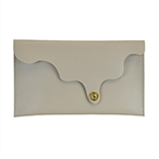 Wave On Top Leather Clutch